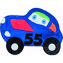 Tapete Para Quarto De Menino Carro 55 Azul 0,70cm X 0,70cm