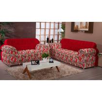Capa Para Sofa 2 E 3 Lugares Duo Estampa - Nanda Enxovais