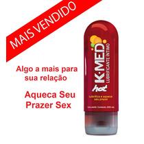 Lubrificante Gel K-med Hot 200ml Esquenta Muito