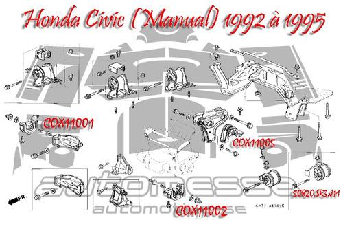 Coxim (calço) Frontal Do Motor Honda Civic 1992 À 2000