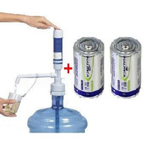 Bomba Eletrica Garrafao Galão Agua Mineral 20l + 2 Pilhas D