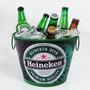 Balde Alumínio P/ Gelo Bebidas Cerveja Extra Luxo Heineken