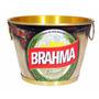 Balde Alumínio Gelo Bebidas Cerveja Extra Luxo Brahma