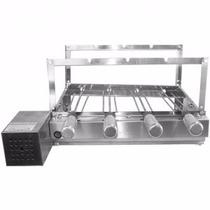 Churrasqueira Giratória Elétrica 4 Espetos Grill Inox