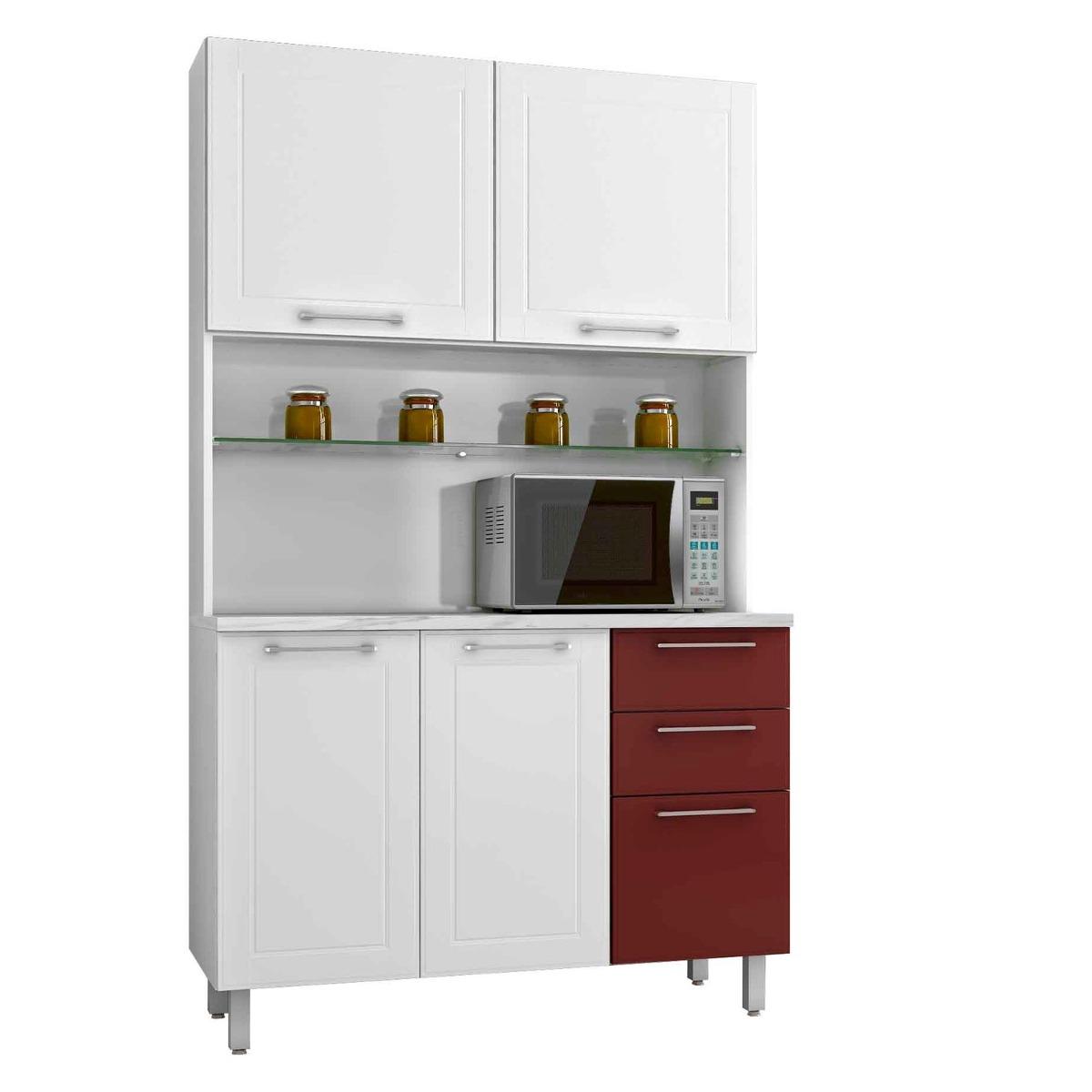 Cozinha Compacta Em Aço Casa Mob 4 Portas 3 Gavetas R$ 883 90 no  #662820 1200 1200