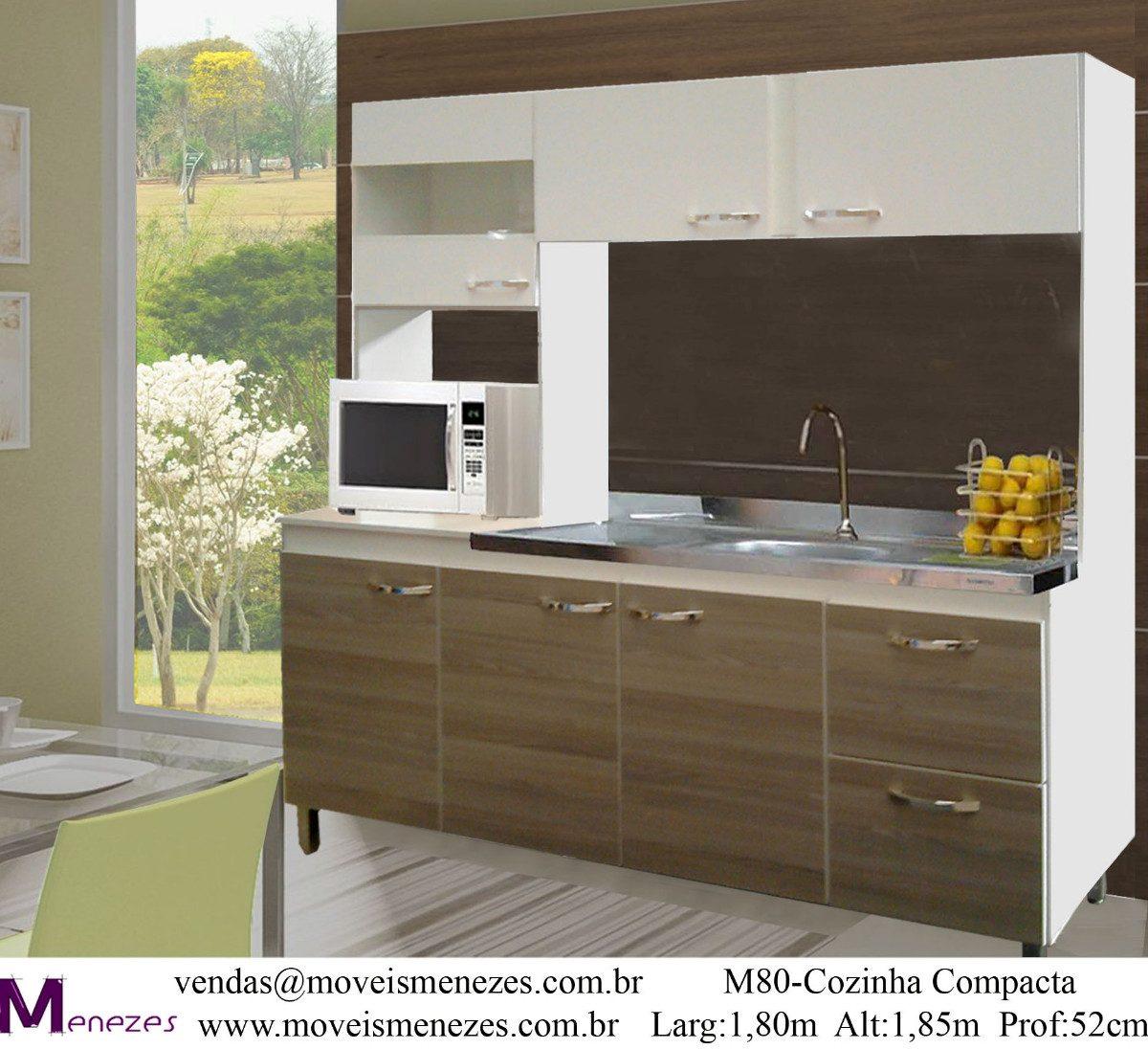 Cozinha Compacta Menezes R$ 525 00 no MercadoLivre #AB8920 1200 1096