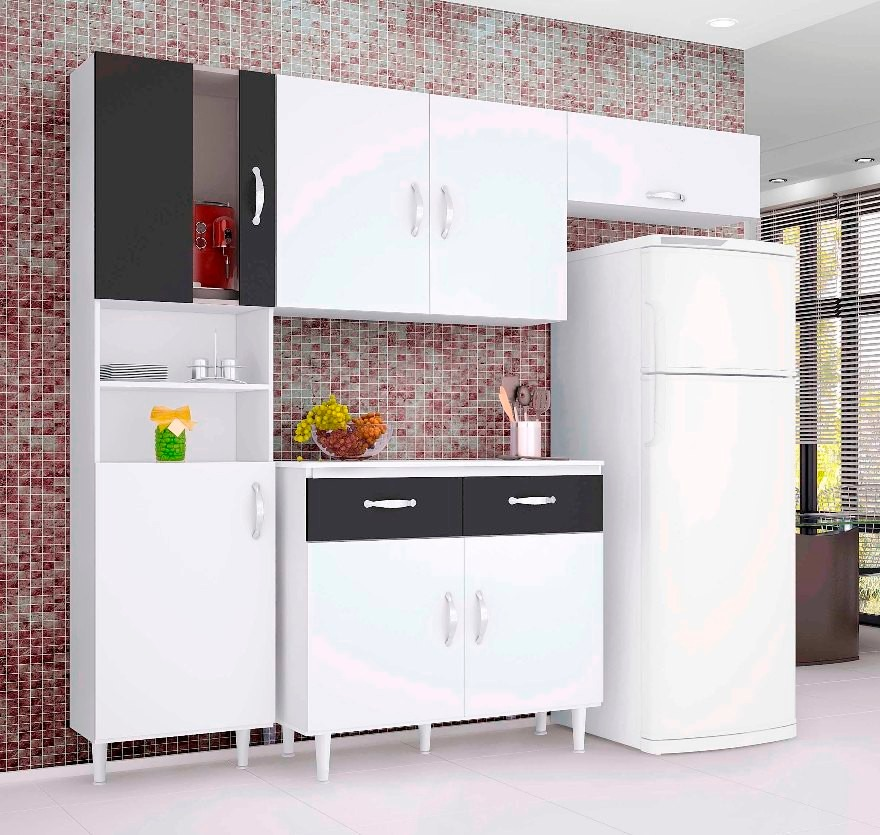 Armário De Cozinha Paneleiro Torre Quente Yasmin 3 Portas Telasul Pictures to # Armario De Cozinha Lojas Marabraz