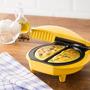 Omeleteira Eletrica Amarela Grill Antiaderente Ovos 220v