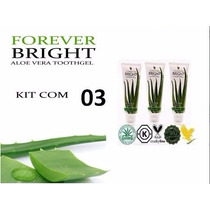 Kit Com 3 Gel Dental Forever Bright Toothgel - Sem Flúor!