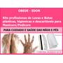 Kits Luvas/botas Descartáveis Manicure/pedicure Profissional