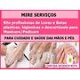 Kits Luvas + Botas Descartáveis Manicure/pedicure Profission