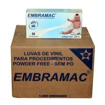 Luva Procedimento Em Vinil Embarque C/ 1.000 Luvas Embramac
