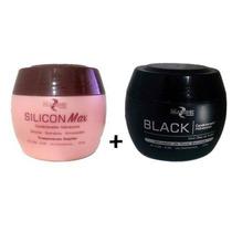 Silicon Max Cond Hidratante Mairibel + Matizador Black 500g