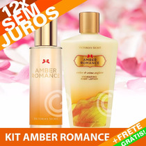 Kit Perfume + Creme Amber Romance Victoria´s Secret 250ml