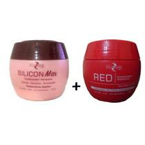 Silicon Max Cond. Hidratante Mairibel + Matizador Red 500g