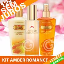 Kit Amber Romance Perfume + Creme + Splash Victoria´s Secret