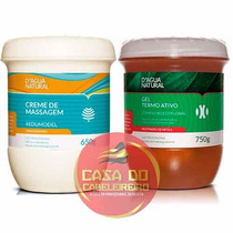Kit Gel Termo Ativo + Creme Massagem Redumodel Dagua Natural