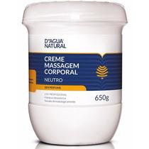 Creme Neutro 650gr Para Massagens Corporal - D Agua Natural