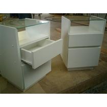 Criado Mudo Branco Tampo Vidro A= 55 L=35 P=30 Ótimo Acab.