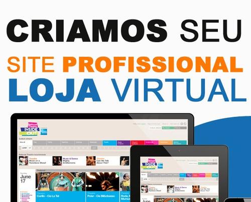 Criar Site Ou Loja Virtual Personalizada E Logomarca