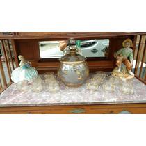 Poncheira De Cristal Lapidado Antiga Antiquário Breshopping
