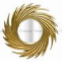 Espelho Cristal Bisotado Moldura Decorativa Espiral Dourado