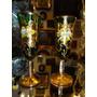 Tacinhas Venezianas Antigas Verde Com Ouro Para Licor
