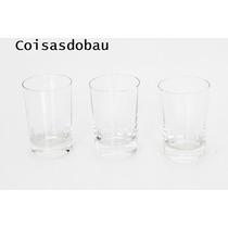 Jogo 3 Copos Em Cristal Para Aperitivo Vinho Do Porto Cchic