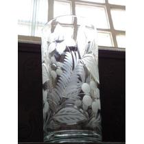 Soberbo,lindo Vaso Decô Cristal Tcheco Lapidado À Mão,déc40
