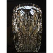 Belo,raro Vaso Decô Em Vidro Branco Artístico Europeu Déc40