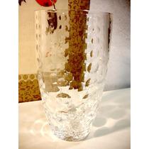 Vaso Em Cristal Europeu Bela Lapidação Bolinhas Raridade