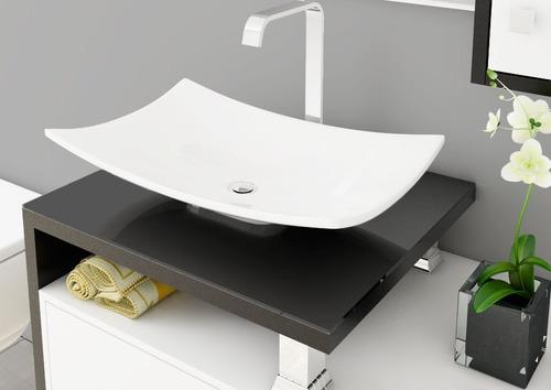 Cuba De Apoio Para Banheiro Formato Folha Branco  Bari  R$ 99,49 no Mercado -> Cuba De Apoio Para Banheiro Mercado Livre