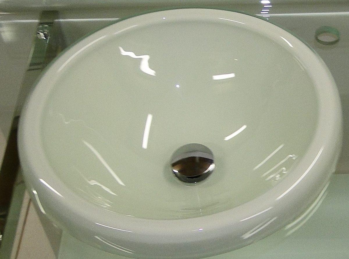 Cuba De Bancada Pia Lavabo Do Gabinete Chopin Para Banheiro  R$ 199,90 no Me -> Como Instalar Pia De Banheiro De Vidro