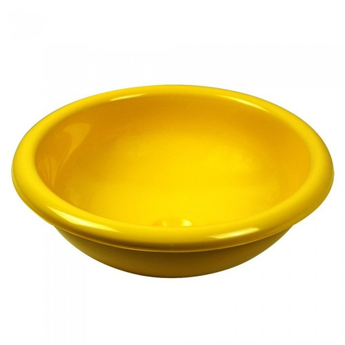 Cuba De Sobrepor Redonda Amarela Lavabo Banheiro  R$ 99,90 no MercadoLivre -> Cuba Para Banheiro Amarela
