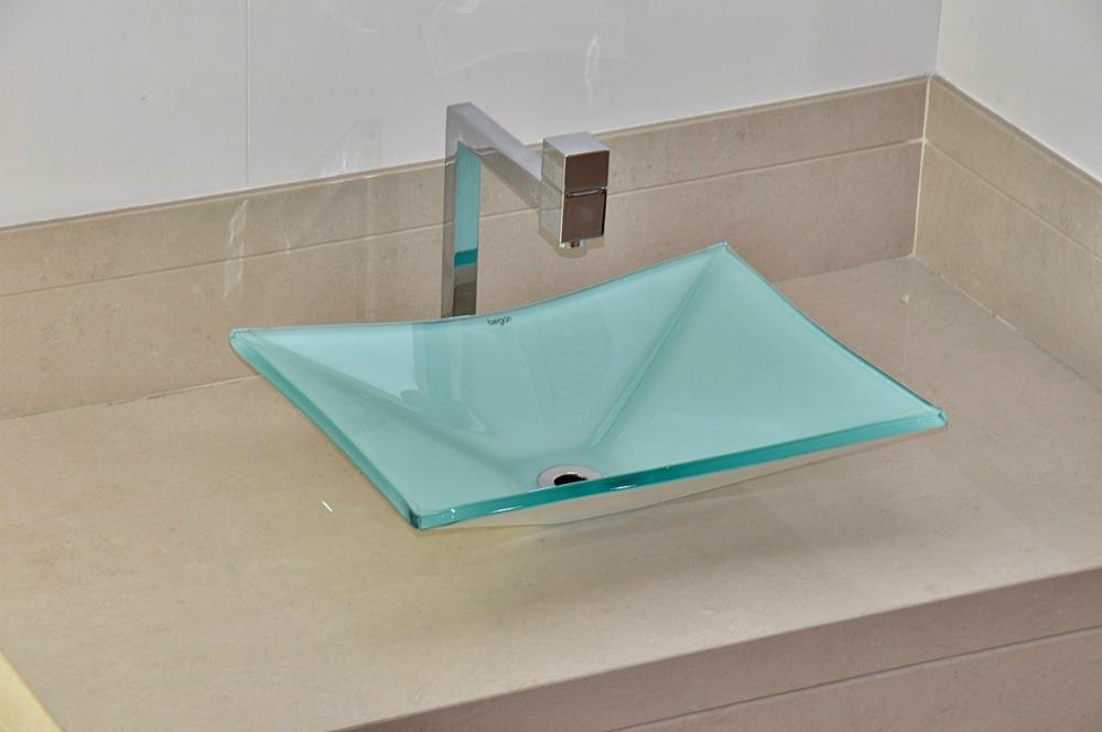 Cuba De Vidro Bergan Retangular Branca  Linha Sulle  R$ 189,90 no MercadoLivre -> Cuba De Vidro Para Banheiro Mercadolivre