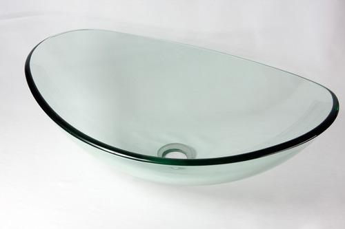 Cuba De Vidro Oval Para Banheiro E Lavabo Transparente  R$ 219,90 no Mercado -> Cuba De Vidro Para Banheiro Mercadolivre