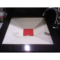 Bancada De Porcelanato Preta + Cuba Tetra Banheiro - Arthome