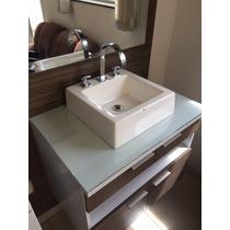 Cuba Quadrada Banheiro Com Válvula Lavatório Cromada