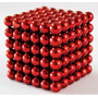 Cubo Magnético Neocube 5mm Vermelho 216 Pcs - Pronta Entrega