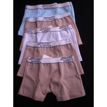 Kit C/ 5 Cuecas Boxer Infantil De Coton