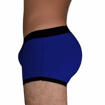 Cueca Com Enchimento Mini Boxer -empinar O Bumbum - Azul