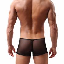 Cueca Mini Boxer Transparente - Elástico Fino
