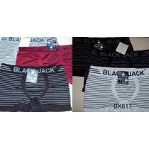 Kit Cueca Box Black Jack 12 Unidades Listrada + Frete Grátis