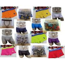 Kit C/ 10 Cuecas Boxer Sortidas Calvin Klein, Abercrombie