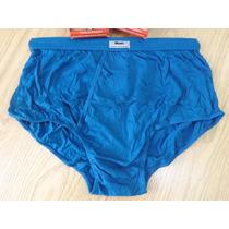 Cueca Mash Slip Algodão Com Abertura - Azul Pet. G G = 50/52