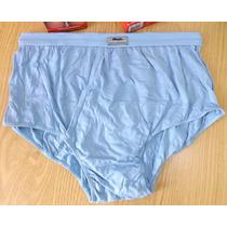 Cueca Mash Slip Algodão Com Abertura - Azul Tam. G G = 50/52