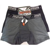 Kit 2 Cuecas Boxer Microfibra Bad Boy/mash Preto/cinza - G G