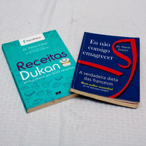 2 Livros Receitas De Dunkan + Eu Não Consigo Emagrecer