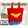 Mulher Maravilha Wonder Woman Bolsa Ecobag - Forrada Ziper