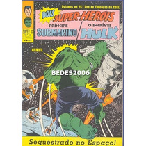 Super X - Namor & Hulk Nº 35 - Ebal - 1970 - Excelente!